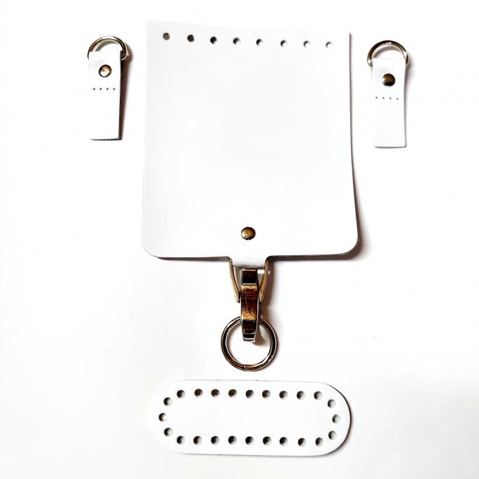 Набор для мини-сумки цв.белый (нат.кожа)