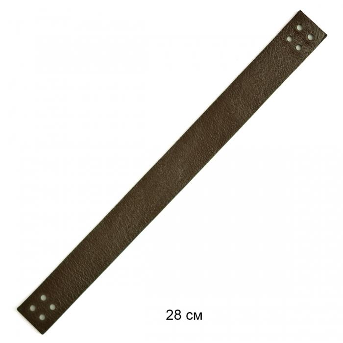 Ручка кожаная пришивная 28 см цв.шоколад