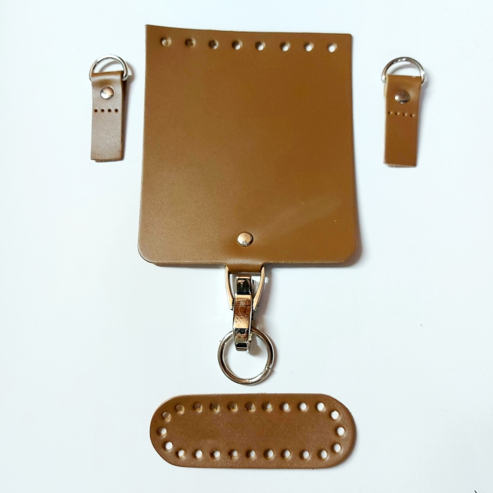 Набор для мини-сумки цв.бронзовый (нат.кожа)
