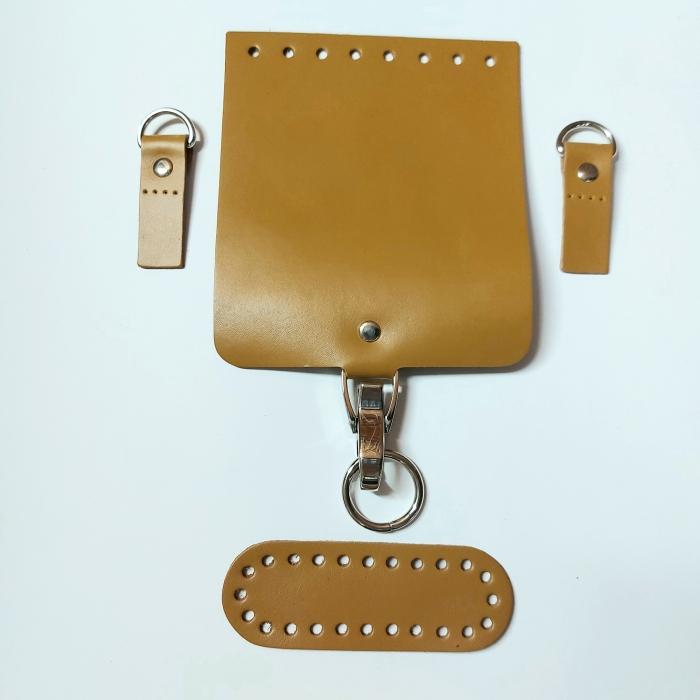Набор для мини-сумки цв.горчица (нат.кожа)