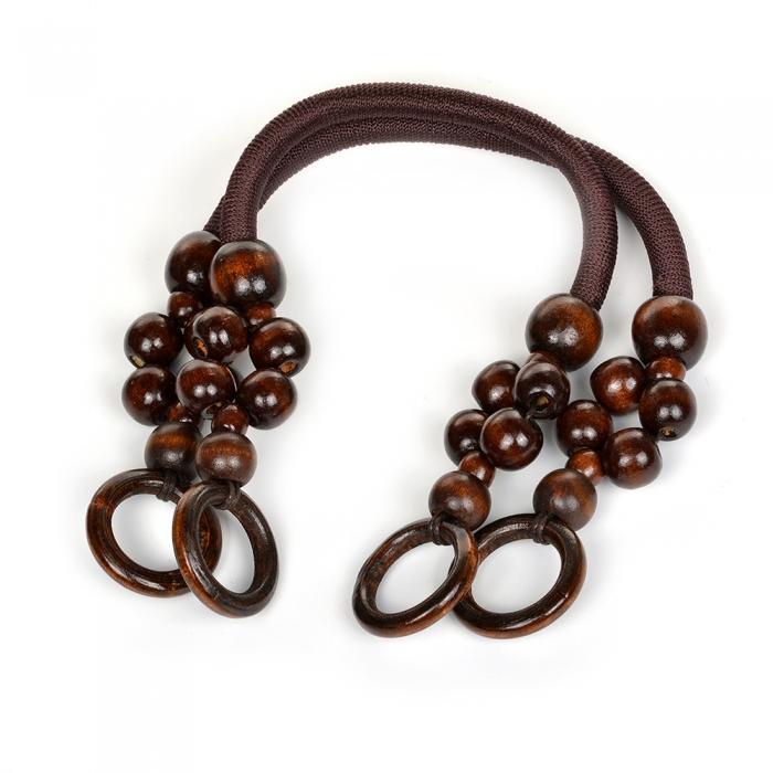 Ручка для сумки, арт.МН-01954-2,вощен.шнур , длина 44см, цв.коричневый, уп.2шт