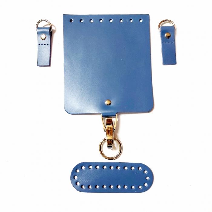 Набор для мини-сумки цв.джинс (нат.кожа)