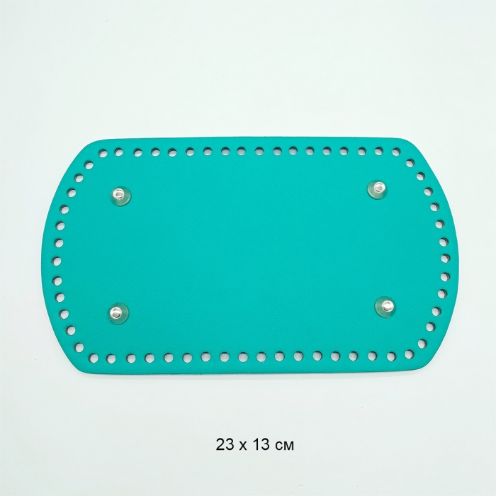 Дно для рюкзака 23х13 см цв.бирюзовый (нат.кожа)