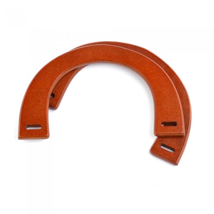 Ручка для сумки, арт.МН-01957-1, дерево, 25см, цв.св.коричневый, уп.2шт