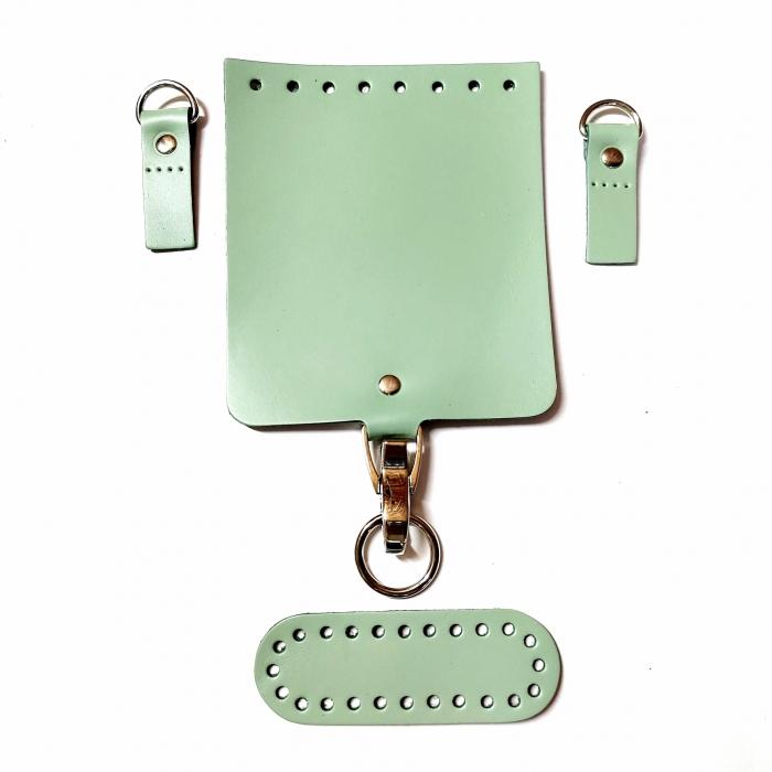 Набор для мини-сумки цв.фисташка (нат.кожа)