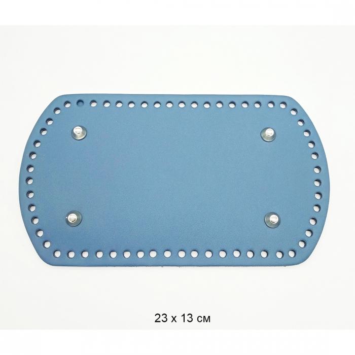 Дно для рюкзака 23х13 см цв.джинс (нат.кожа)