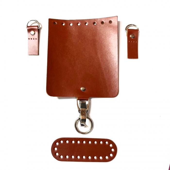 Набор для мини-сумки цв.коньяк (нат.кожа)