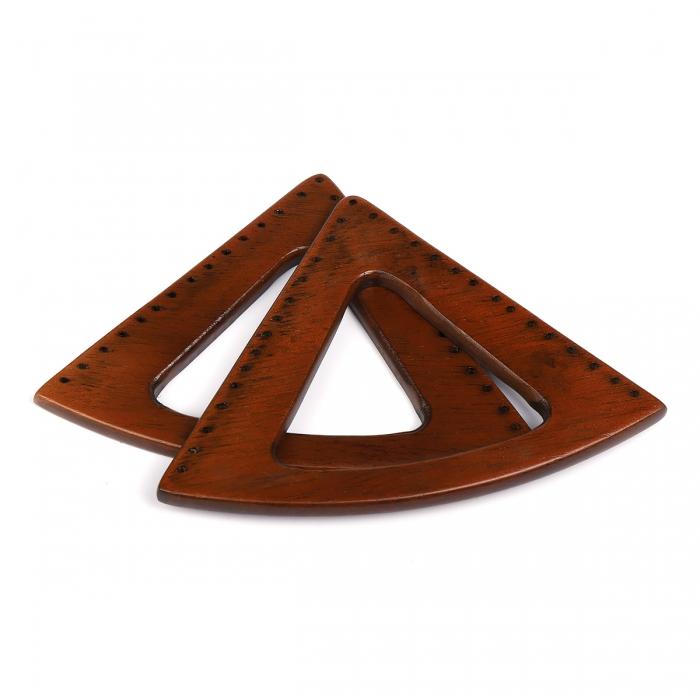 Ручка для сумки, арт.МН-02072-2 нат. бук, разм 20х15 см, цв.коричневый, уп.2шт