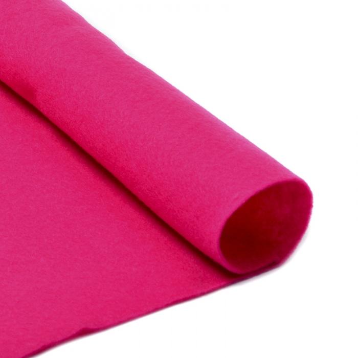 Фетр в рулоне жесткий IDEAL 1мм 100см арт.FLT-H2 уп.10м цв.609 ярк.розовый