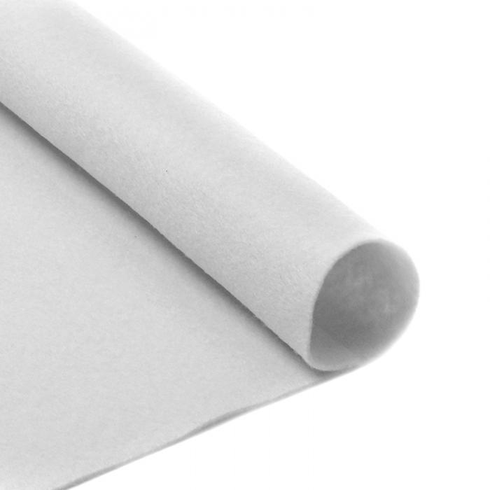 Фетр в рулоне жесткий IDEAL 1мм 100см арт.FLT-H2 уп.10м цв.660 белый