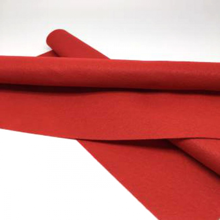Фетр в рулоне мягкий 2мм ширина 100см арт.СШ цв. 007 красный уп.10м
