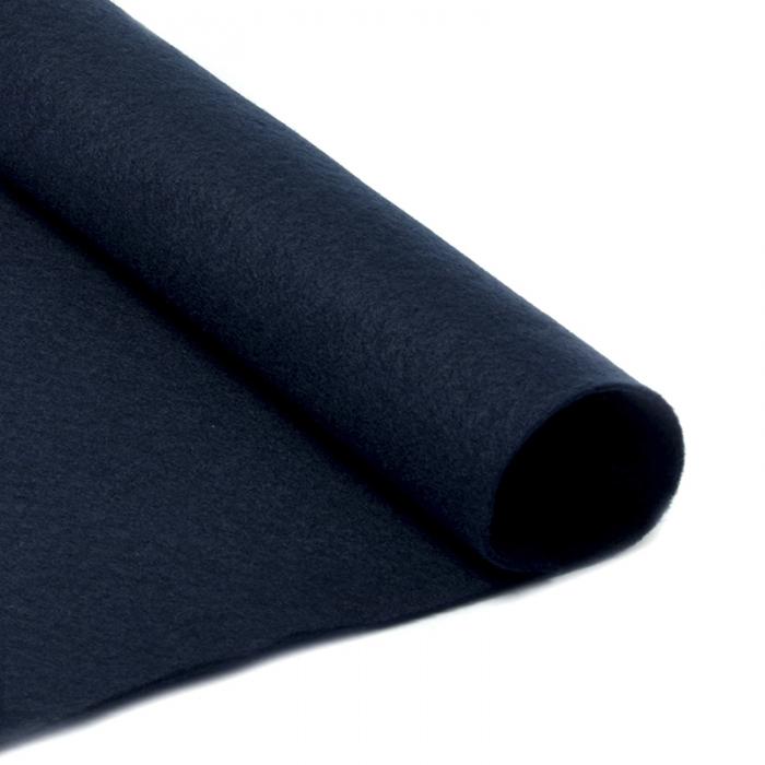 Фетр в рулоне жесткий IDEAL 1мм 100см арт.FLT-H2 уп.5м цв.655 иссиня черный