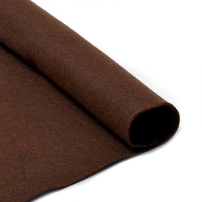Фетр в рулоне жесткий IDEAL 1мм 100см арт.FLT-H2 уп.1м цв.687 коричневый