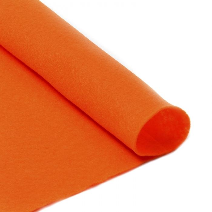 Фетр в рулоне жесткий IDEAL 1мм 100см арт.FLT-H2 уп.10м цв.645 бл.оранжевый