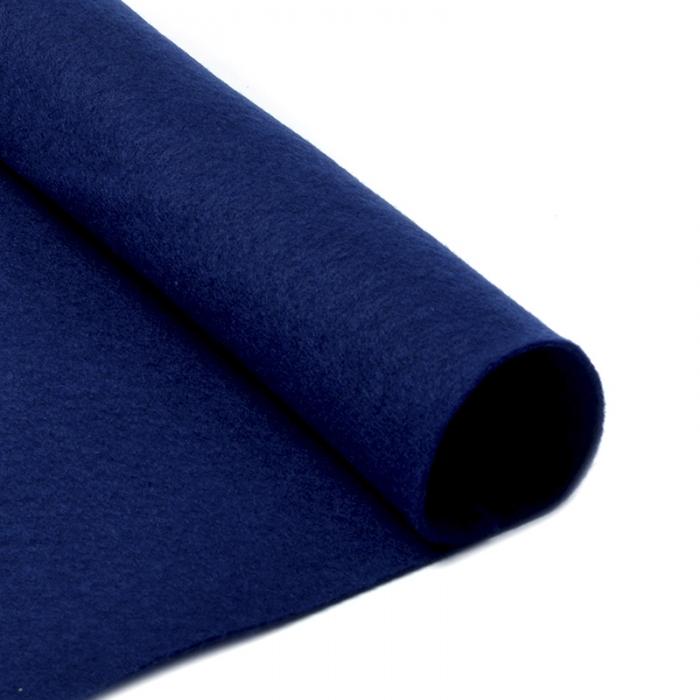 Фетр в рулоне жесткий IDEAL 1мм 100см арт.FLT-H2 уп.5м цв.673 т.синий