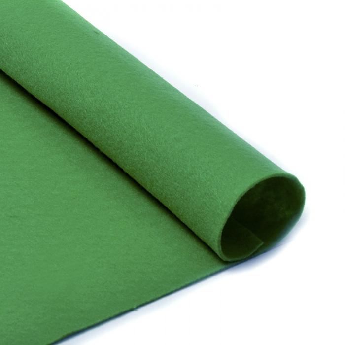Фетр в рулоне жесткий IDEAL 1мм 100см арт.FLT-H2 уп.10м цв.705 зеленый