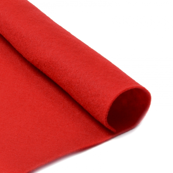 Фетр в рулоне жесткий IDEAL 2мм 100см арт.FLT-H3 уп.10м цв.601 красный