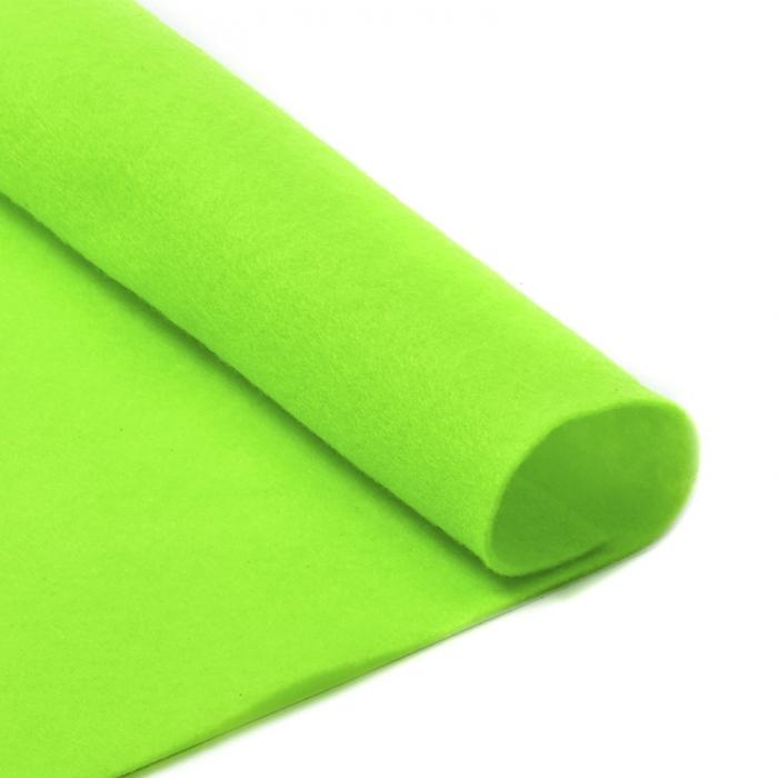 Фетр в рулоне жесткий IDEAL 1мм 100см арт.FLT-H2 уп.5м цв.674 салатовый
