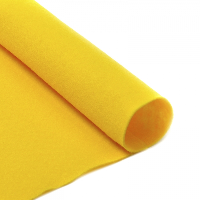 Фетр в рулоне жесткий IDEAL 1мм 100см арт.FLT-H2 уп.10м цв.643 желтый
