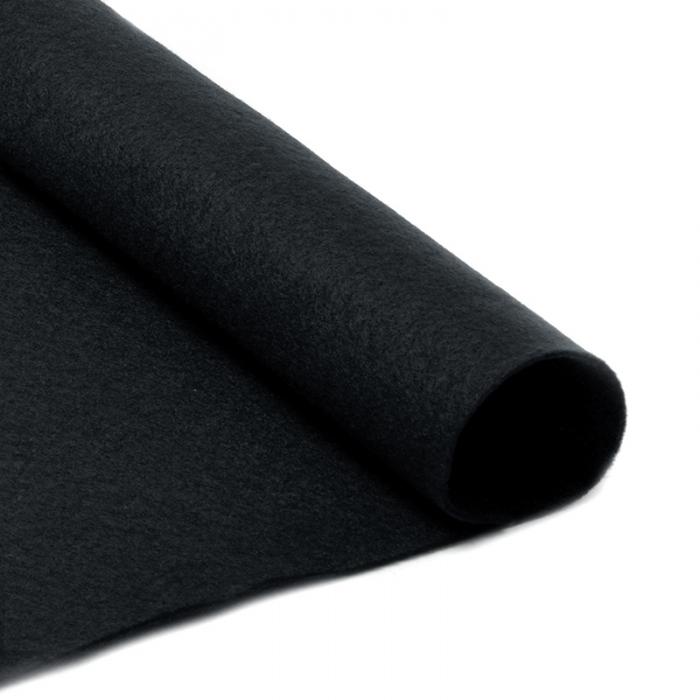 Фетр в рулоне жесткий IDEAL 1мм 100см арт.FLT-H2 уп.1м цв.659 черный