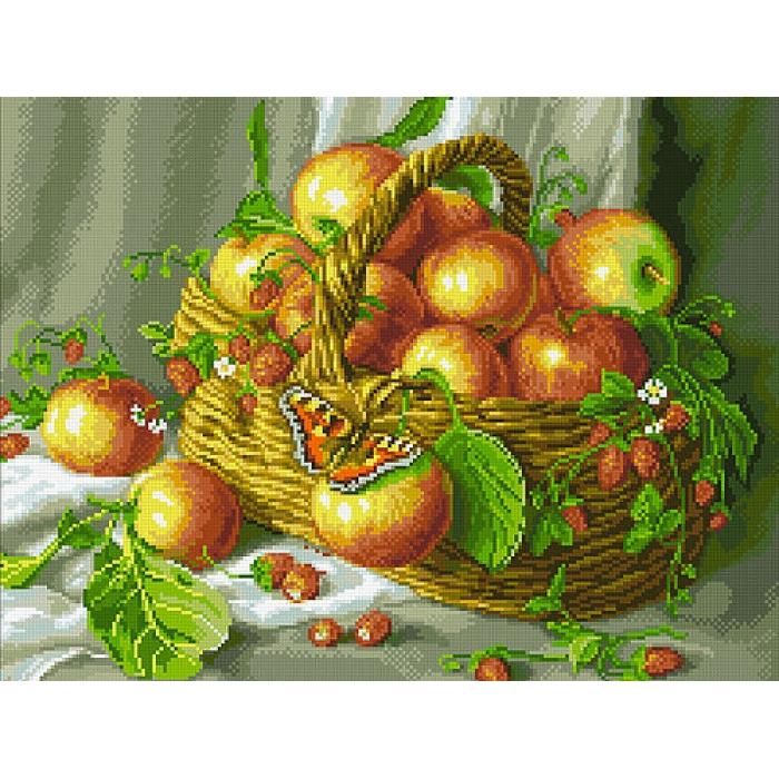 Набор Паутинка для изготовления картины со стразами арт.М259 Яблочки 50х40 см