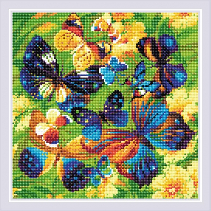 Набор РИОЛИС мозаичная картина арт.AM0038 Яркие бабочки 30х30 см