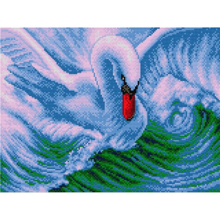 Набор для изготовления картин со стразами Вышиваем бисером арт.ВБ.V-5 Лебедь 30х40 см