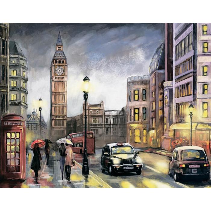 Алмазная вышивка Красочный Лондон LG251 40х50 тм Цветной