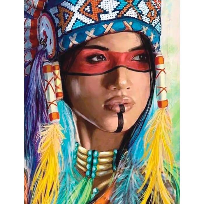 Алмазная вышивка Индианка LG234 40х50 тм Цветной