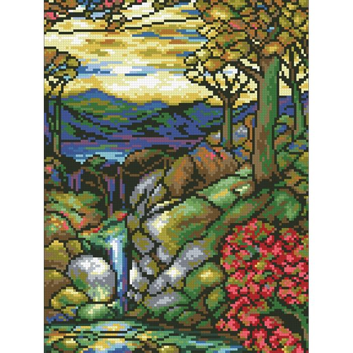 """Набор """"Паутинка"""" для изготовления картины со стразами арт.М435 Витраж Осень 25х35 см"""