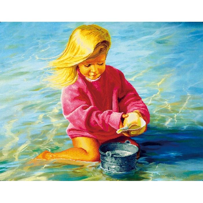 Алмазная вышивка Беззаботное детство LZE014 30х40 тм Цветной