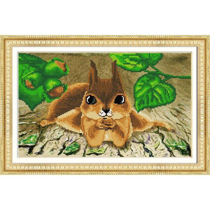 Набор Колор Кит мозаичная картина арт.КК.305004 Забавная белка 30х50