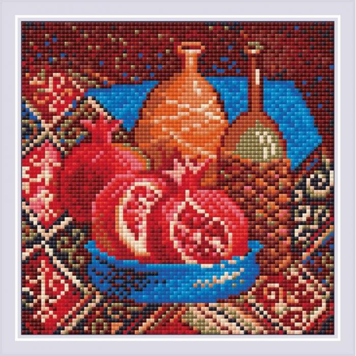 Набор РИОЛИС мозаичная картина арт.AM0033 Гранаты 20х20 см