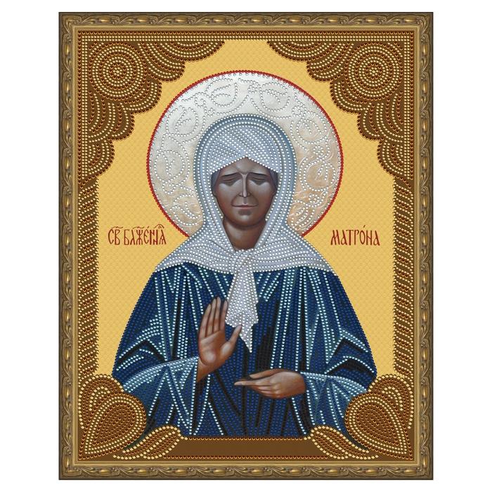 Картина 5D мозаика с нанесенной рамкой Molly арт.KM0790 Матрона Московская (10 цветов) 40х50 см