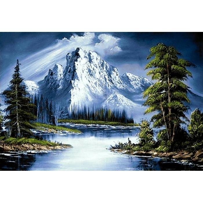 Алмазная мозаика на холсте ГРАННИ арт.Ag565 Горное озеро 70х48см