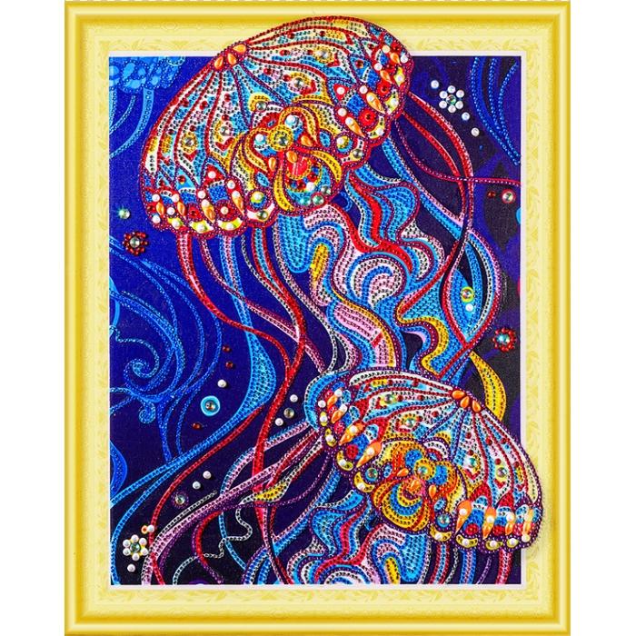 Набор Колор Кит картина алмазная с фигурными стразами арт.КК.FKU009 Сокровища океана 40х50