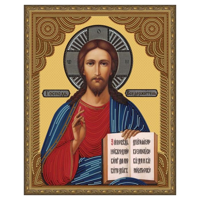 Картина 5D мозаика с нанесенной рамкой Molly арт.KM0791 Господь Вседержитель (12 цветов) 40х50 см