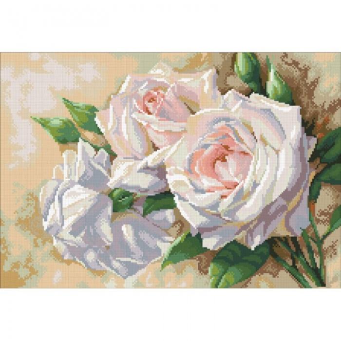 Набор Паутинка для изготовления картины со стразами арт.М202 Античные розы 52х36см