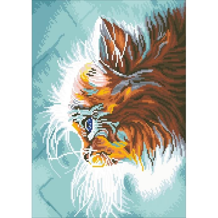 Алмазная вышивка Котенок в мечтах LG010 40х50 тм Цветной