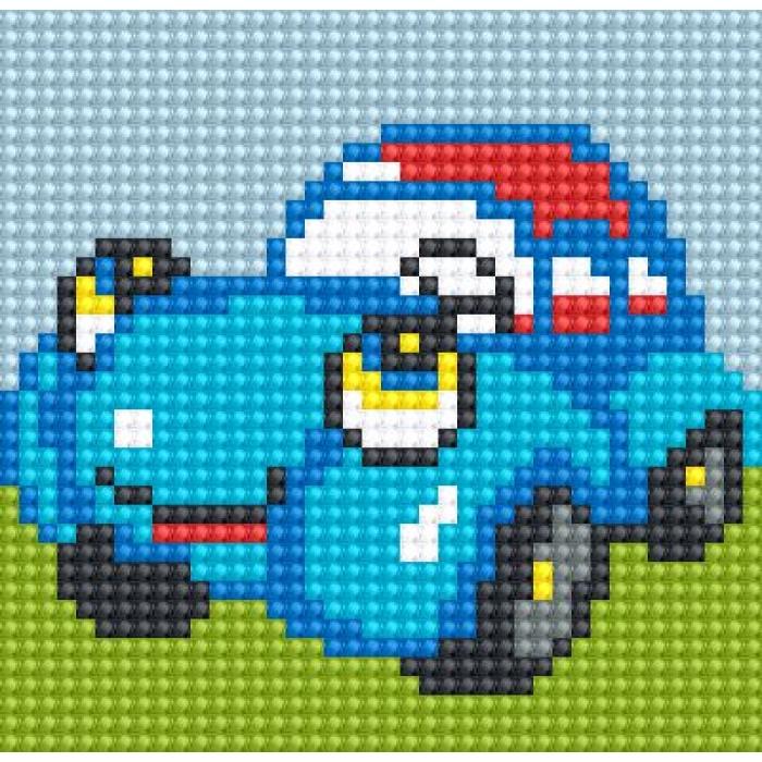 Алмазная мозаика Ah5218 Автомобильчик 10х10