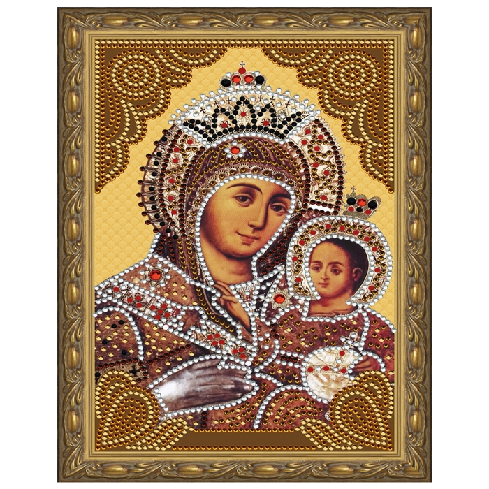 Картина 5D мозаика с нанесенной рамкой Molly арт.KM0713 Вифлеемская Божия Матерь (15 цветов) 20х30 см