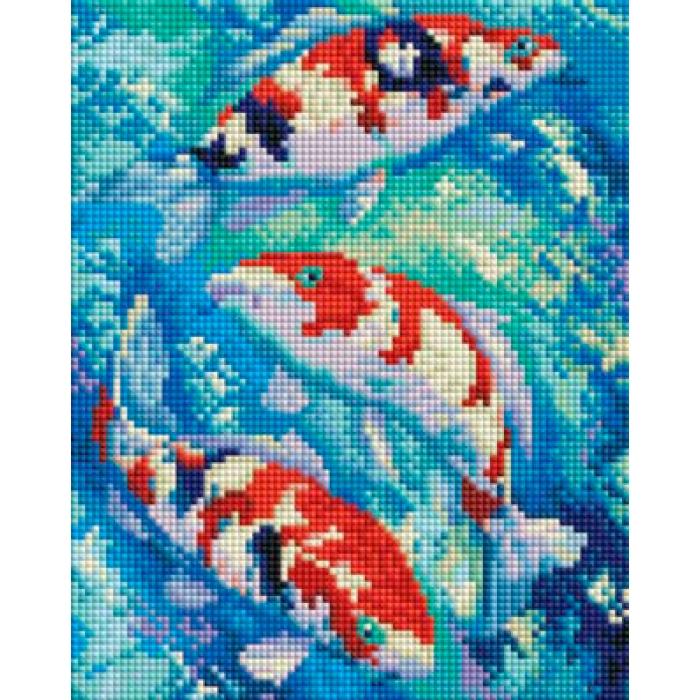 Набор Белоснежка для изготовления картин со стразами арт.БЛ.405-ST-PS Карпы Кои 20х25 см