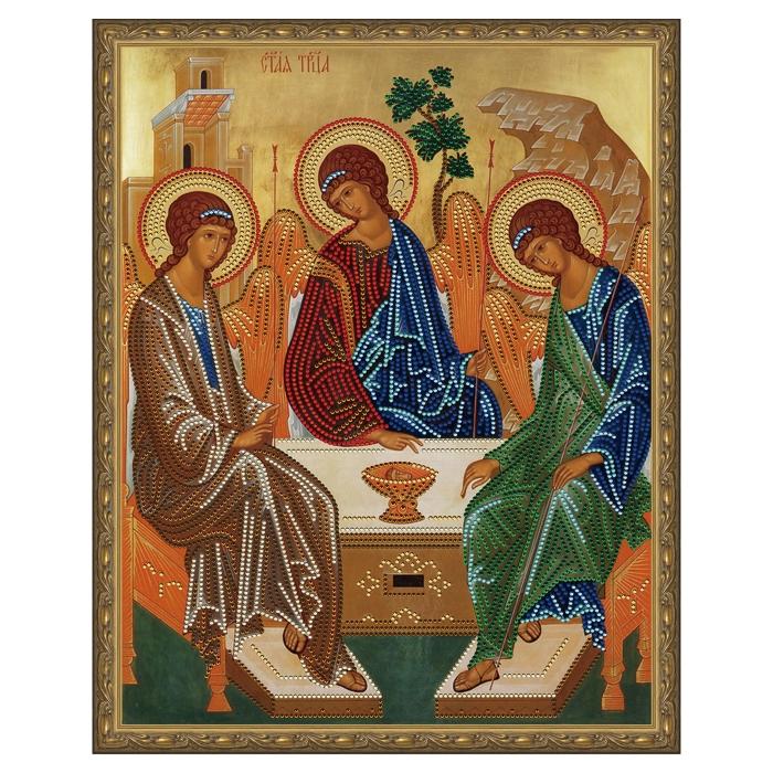 Картина 5D мозаика с нанесенной рамкой Molly арт.KM0793 Святая Троица (13 цветов) 40х50 см