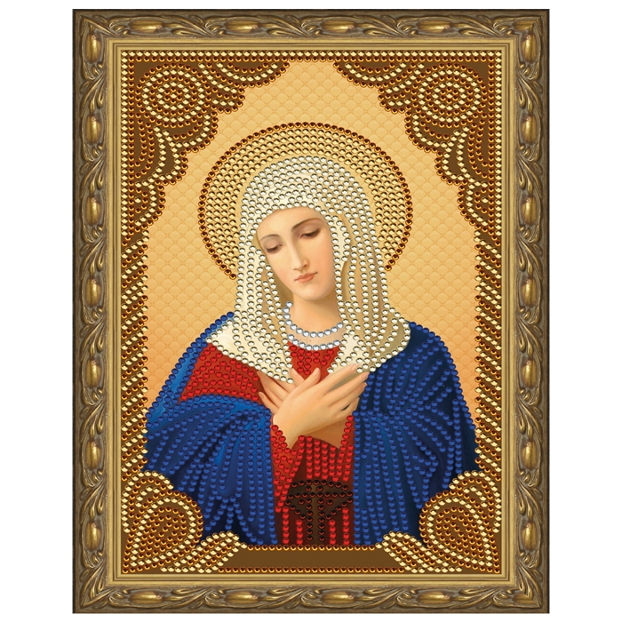Картина 5D мозаика с нанесенной рамкой Molly арт.KM0714 Умиление (7 цветов) 20х30 см