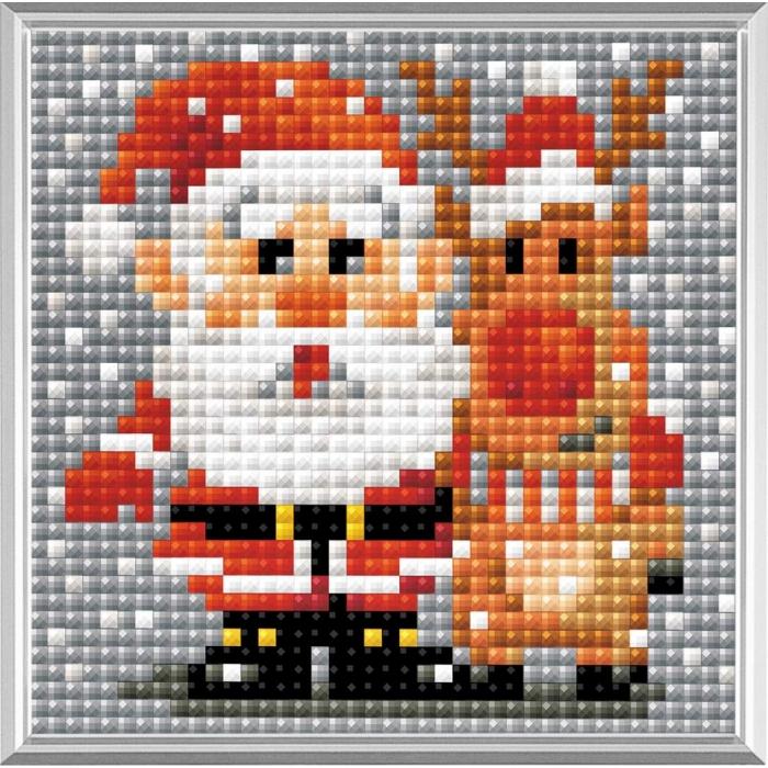 Набор РИОЛИС мозаичная картина арт.AM0018 Санта-Клаус 10х10 см