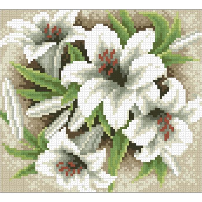 Набор Паутинка для изготовления картины со стразами арт.М232 Садовые лилии 20х18 см