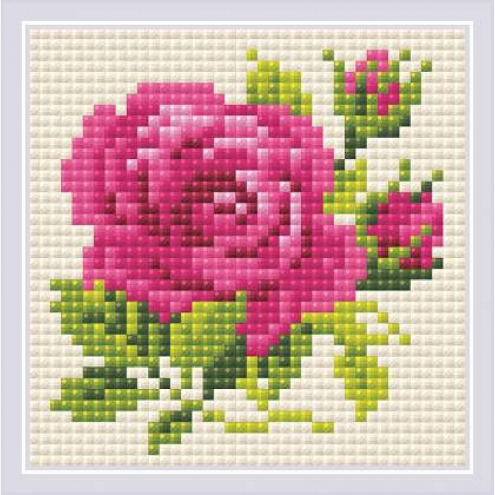 Набор РИОЛИС мозаичная картина арт.AM0031 Розочка 10х10 см