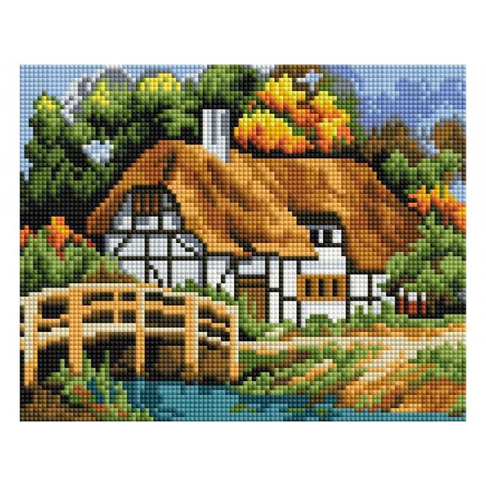Набор Белоснежка для изготовления картин со стразами арт.БЛ.422-ST-PS Село 20х25 см