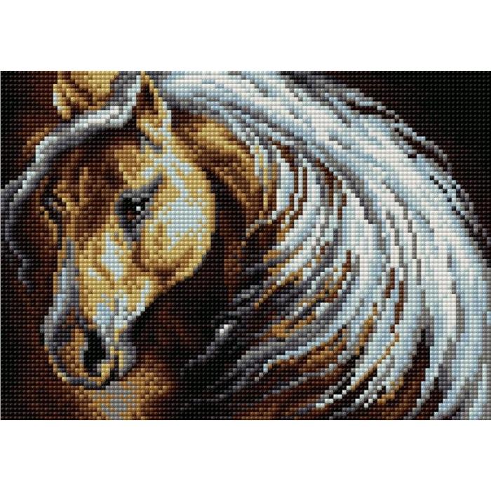 Набор для изготовления картин со стразами Вышиваем бисером на магнитной основе арт.ВБ.V-57 28,5х20 см
