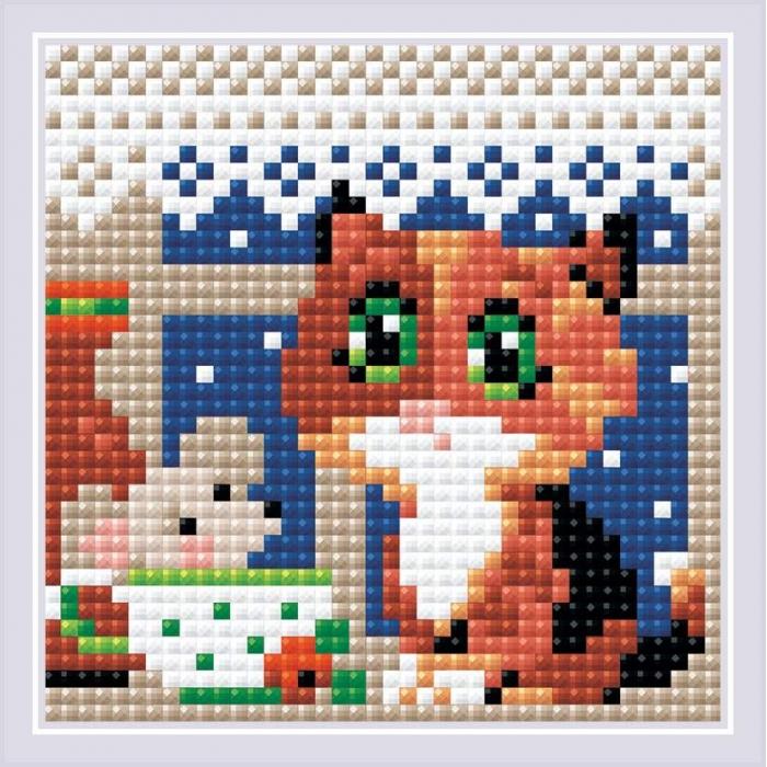 Набор РИОЛИС мозаичная картина арт.AM0028 Чай вдвоем 10х10 см